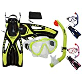 Promate Junior Snorkeling Scuba Diving Mask DRY Snorkel Fins Set for Kids/ SCS0040