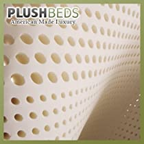 "Big Sale PlushBeds Rubber Topper Mattress Pad - 3"" Talalay 100% Natural - King"