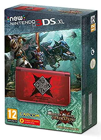 Nintendo Handheld Console 3DS XL - New Nintendo 3DS XL Monster Hunter Generations Edition + Pre-installed Game