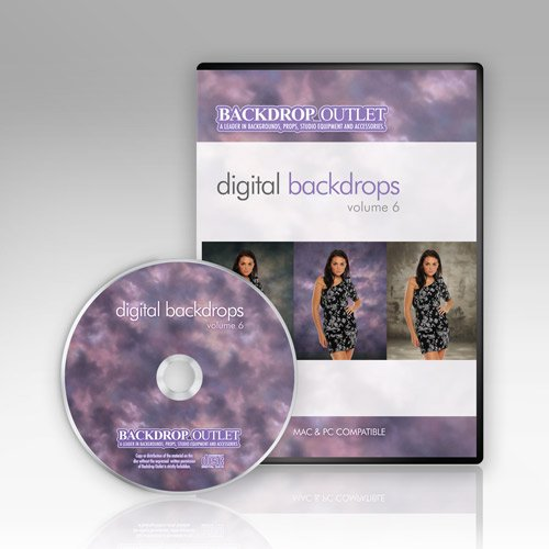 Digital Backdrops Cd By Backdrop Outlet Volume 6 Mac & Windows (Digital Backdrops For Photography compare prices)