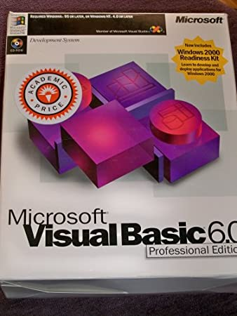 Academic Edition;Education Edition;Scholar Edition VISUAL BASIC Professional Edition (S W) V6.0 CD-ROM Windows 95 Windows 98 NT
