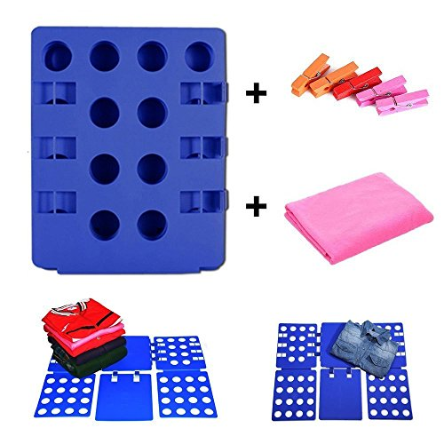 Adjustable Clothes Folder with Free Gifts Plastic T Shirt Flip Fold Folding Board Fast Laundry Folder Clothing Flipfold Boxlegend
