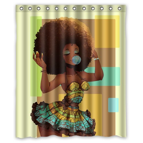 Superior Custom Waterproof Bathroom African Woman Shower Curtain Polyester Fabric Shower  Curtain Size 60 X 72   Best Made Africa | African Designs Made In Africa By  ...