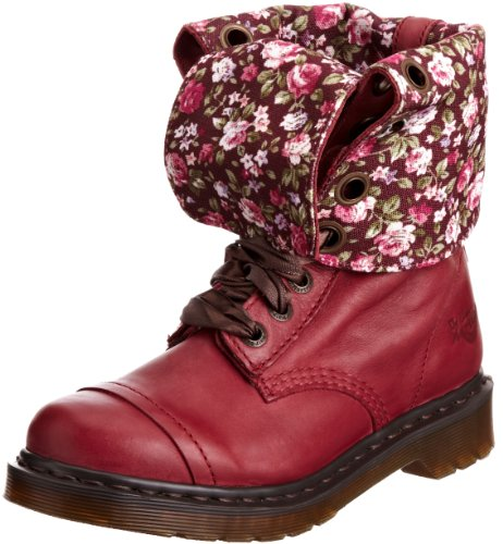 Dr. Martens Women's Triumph 1914 Cherry Red Lace Ups Boots 12108600 4 UK