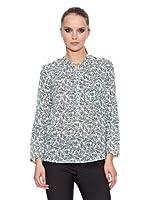 Trucco Blusa Causat (Verde Oscuro / Blanco)