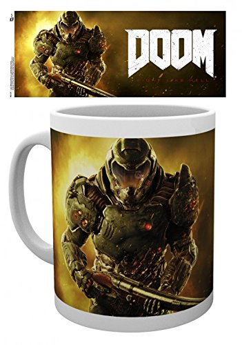 Set: Doom, Marine Tazza Da Caffè Mug (9x8 cm) e 1 Sticker sorpresa 1art1®