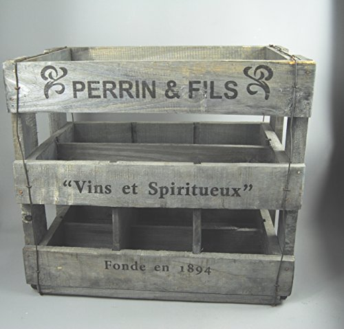 tall-perrin-ellis-large-rustic-vintage-style-wooden-wine-bottle-crate-holder