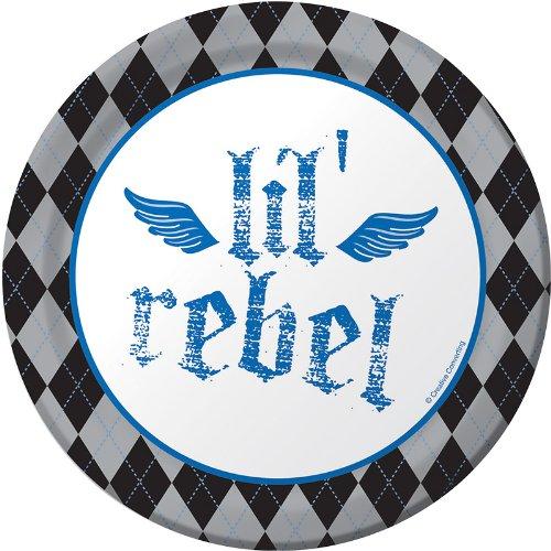Creative Converting Rebel Birthday Round Dessert Plates, 8 Count