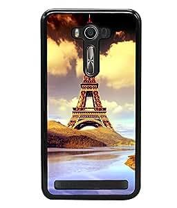printtech Paris Tower Animation Back Case Cover for Asus Zenfone 2 Laser ZE550KL ,Asus Zenfone 2 Laser ZE550KL (5.5 Inches)