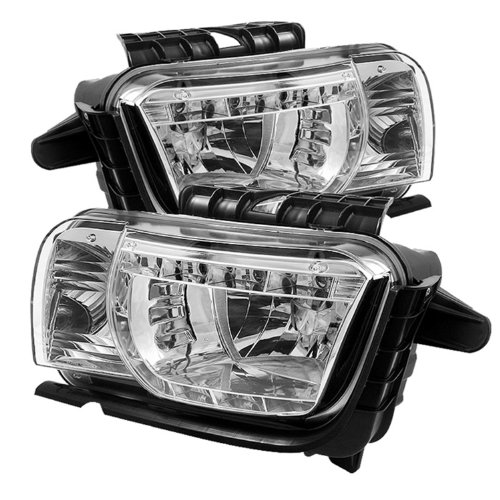 Spyder Auto Chevy Camero Chrome DRL LED Crystal Headlight