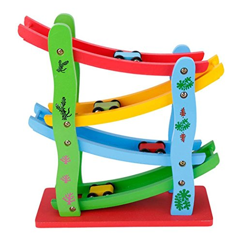 Zeagoo Babyspielzeug Holz Rollbahn Auto Highway