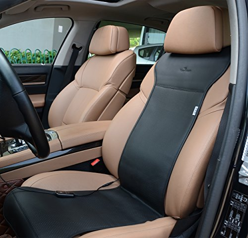 KINGLETING 12V Heated Seat Cushion with Intelligent Temperature Controller.(Black) (Heated Seat Car compare prices)