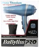 Babyliss Pro BABNT5548 2000 Watt Ionic Nano Titanium with Integrated Ion Generator Hair Dryer