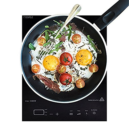 Ainfox FCC/CETL 1400W Full Glass Top Portable Sensor Touch Induction Cooktop Countertop Burner 2 Years Warranty (30 Inch Stove Top Cover compare prices)