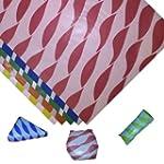 25 x Red Twist Greaseproof Paper Burg...
