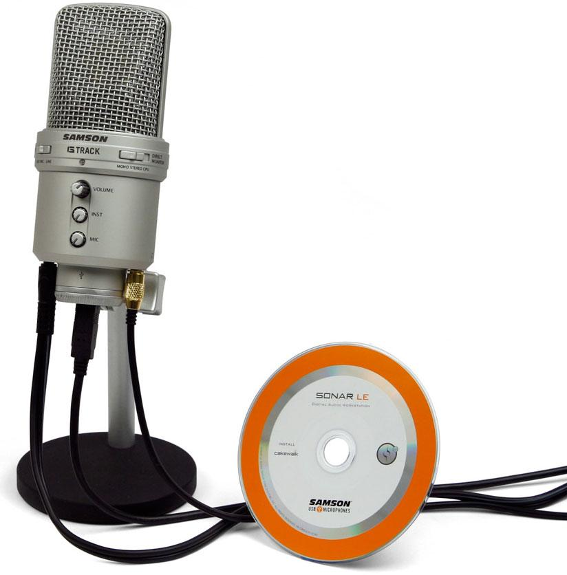 samson g track usb condenser microphone with audio interface musical instruments. Black Bedroom Furniture Sets. Home Design Ideas