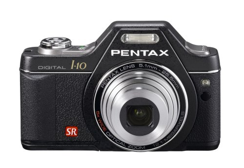 Pentax Optio I10 12.1 MP Digital Camera with 5x Wide Angle Optical Image Stabilized Zoom and 2.7-Inch LCD (Classic Black)