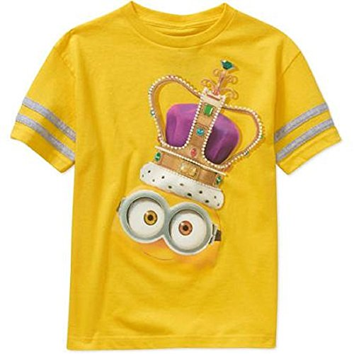 Minions Royal Crown wearing Minion T-Shirt, Size L (10/12)