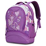 Hynes Eagle Girl s Lightweight Polyester Sweetheart Patterns Back to School Backpacks (Purple)
