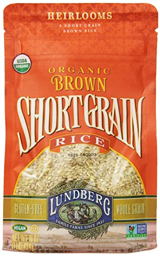 Lundberg Organic Short Grain Rice, Brown, 16 Ounce (Pack of 6) (Organic Whole Grain Brown Rice compare prices)