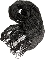 AN1225 Fashionable Spring Summer Solid Color Scarf (Black)