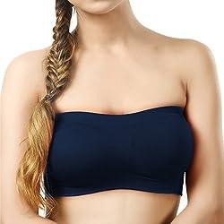 BYC TB-1011 Blue Non-Padded Tube Bra for Girl's & Women-32