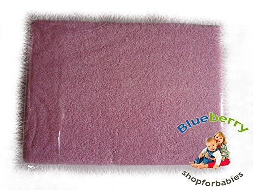 Blueberry Shop Terry Towelling Fitted Sheet 40X90 Nursery Baby Cot/ Moses Basket/ Crib Pink - 1