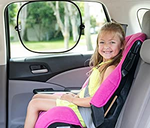 Car Window Shades, Fade to Shade, 2 Pack Auto Sunshades, Sun Shade for Babies, Kids, & Pets, High Quality Auto Sun Screens, SPF Protection Against Harmful Rays, Sun Glare & Heat, Great for Side & Back Windows, Baby Shower Gift, Great Bonuses: 2 Extra Suction Cups and a Sturdy Zip Close Bag