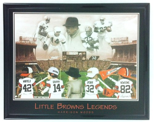 NFL Football Cleveland Browns Warfield Graham Brown Newsome Framed Print Wall Art at Amazon.com