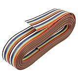 uxcell リボンケーブル 20ピン IDCワイヤ フラット 平面 多色 プラスチック 銅 長さ3.66