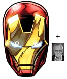 Mask Pack - Iron Man from Marvel's The Avengers Single Card Party Face Mask includes 6x4 inch (15cm x 10cm) Star Photo