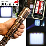 2x5000 Lumen Rechargeable Tactical T6 LED Flashlight Torch+18650 Battery&Charger