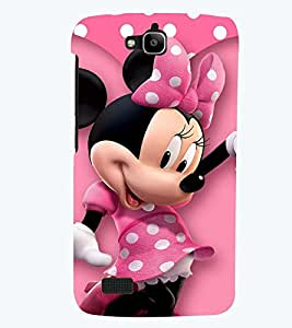 Printvisa Premium Back Cover Polka Dot Pink Mickey Mouse Design For Huawei Honor Holly