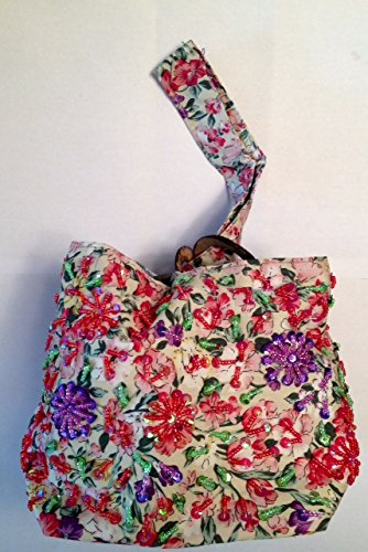 Lantern Moon Beaded Floral Small Knitting Bag-Tulips from Lantern Moon