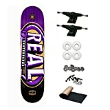 Real Team Logo Purple Renewal MVP 3-D 8.25 Skateboard Deck Complete