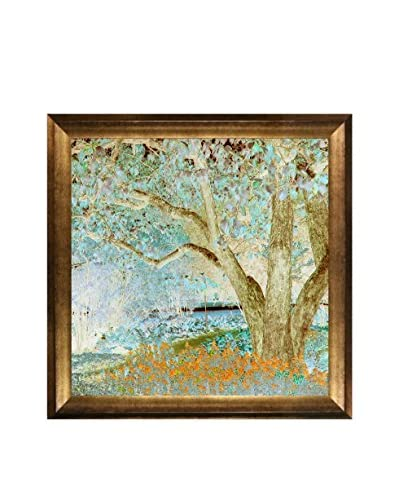 Lisa Carney Moss Forest Framed Giclée On Canvas
