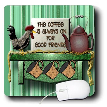 Spiritual Awakenings Country - Coffee And Good Friends A Roaster And Teapot On A Shelf A Great Friend Gift - Mousepad (Mp_128848_1)