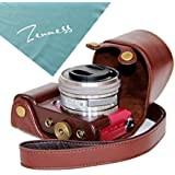 Zenness Protective PU Leather Camera Case, Bag for Sony a5100/a5000 with 16-50mm Lens (Coffee)