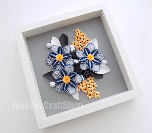 artificial-paper-flowers-wall-hanging-framed-art-home-decoration-handmade-housewarming-gift-for-coup