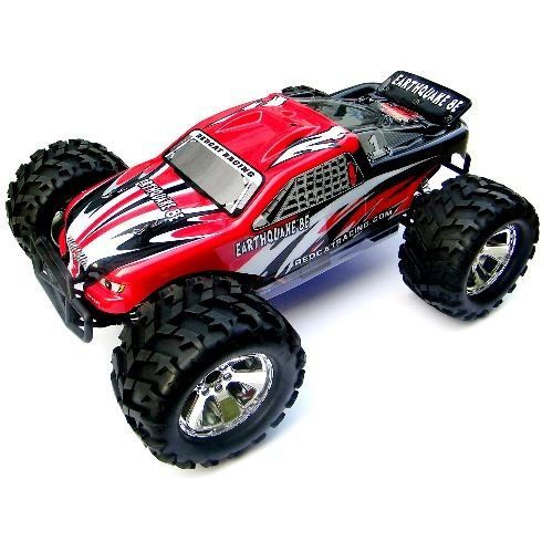 Redcat Racing EARTHQUAKE-8E-RED Earthquake 8E .12 Scale Brushless Electric Monster Truck