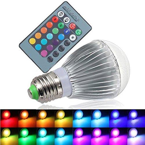 KINGSO E27 RGB 9W 16 Farben AC85-256V Bunt Farbwechsel Licht IR Fernbedienung Birne Lampe