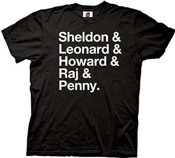 The Big Bang Theory Names Mens T-shirt XL