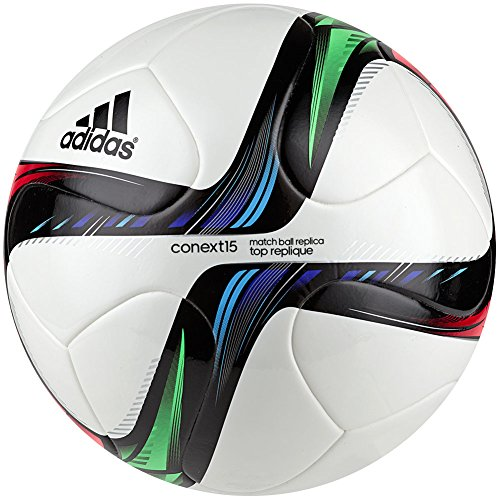 adidas Performance Conext15 Top Replique Soccer Ball, White/Night Flash Purple /Flash Green, Size 4