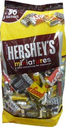 Hershey(ハーシー) ミニチュアチョコレート HERSHEY'S 4種類ノアソート 1580G 56OZ 大容量お得板チョコ