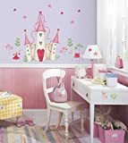 Reusable Decorative Princess Castle Wall Mural Appliques Stickers by RoomMates