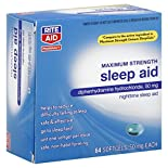Rite Aid Pharmacy Sleep Aid, Maximum Strength, Softgels, 64 softgels