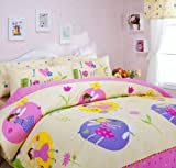 Little Magic Fairy Duvet Cover Set Yellow Girls Bedding Kids Bedding, Full Size
