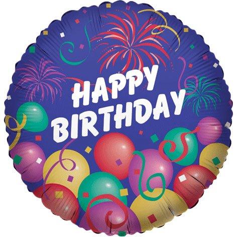 "18"" Birthday Fireworks Silver Lining - 1"