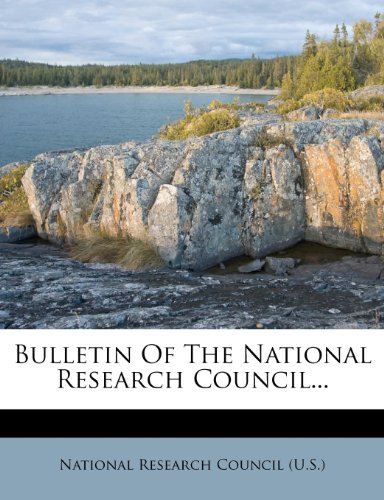 Bulletin Of The National Research Council...