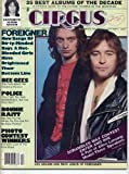 Circus Magazine FOREIGNER Bonnie Raitt MICK JAGGER Police BEE GEES Clive Davis SHOES Lou Gramm MICK JONES December 25, 1979 C